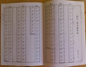 "Kokyû notation (from AZECHI Keiji, ""Kokyû nyûmon"" - these days most Japanese probably find Western staff notation easier though."