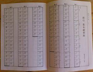 "Kokyû notation (from AZECHI Keiji, ""Kokyû nyûmon"" - these days most Japanese probably find Western staff notation easier though."